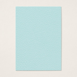 Picture of Light Turquoise Leather. Business Card