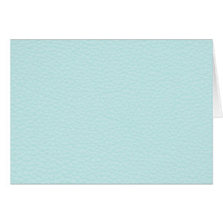 Picture of Light Turquoise Leather. Card