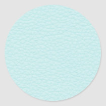 Picture of Light Turquoise Leather. Classic Round Sticker