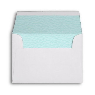 Picture of Light Turquoise Leather. Envelope