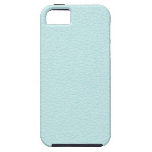 Picture of Light Turquoise Leather. iPhone 5 Cases