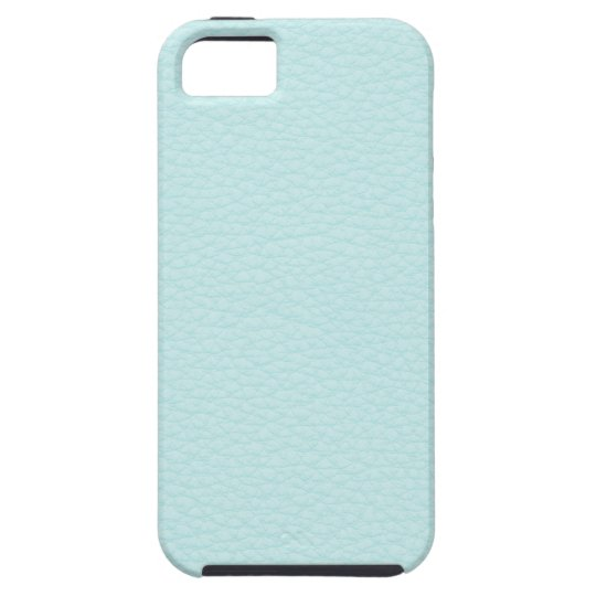 Picture of Light Turquoise Leather. iPhone SE/5/5s Case