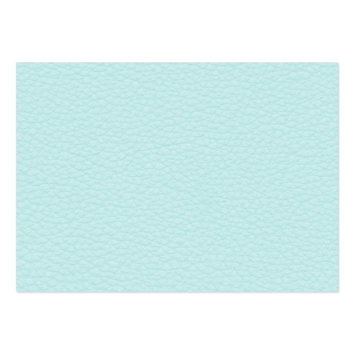 Picture of Light Turquoise Leather. Large Business Card
