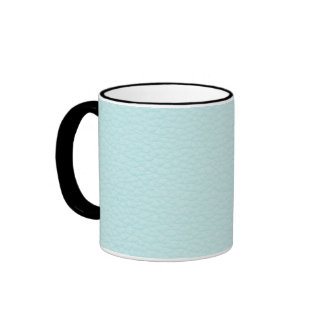 Picture of Light Turquoise Leather. Ringer Coffee Mug