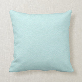 Picture of Light Turquoise Leather. Throw Pillow