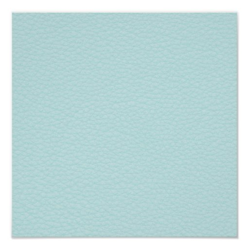 Picture of Light Turquoise Leather. Print