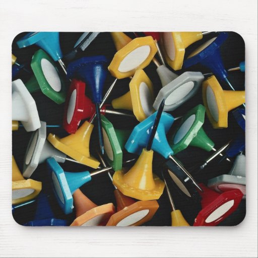 Picture of Map pins, abstract still life Mouse Pad