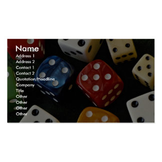 Picture of Multicolored dice Business Card Template
