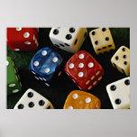 Picture of Multicolored dice Print