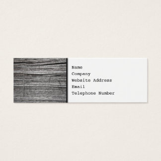 Picture of Old Splintering Wood. Mini Business Card