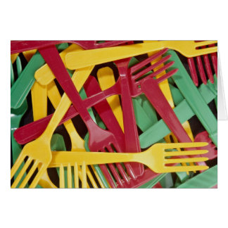 Picture of Plastic knives and forks Greeting Cards