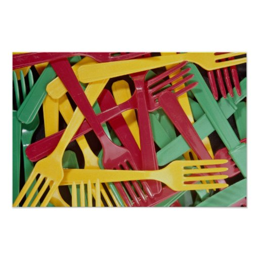 Picture of Plastic knives and forks Poster