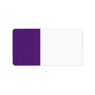 Picture of Purple Leather. Address Label