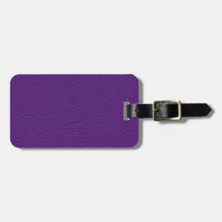Picture of Purple Leather. Bag Tag