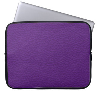 Picture of Purple Leather. Laptop Sleeve