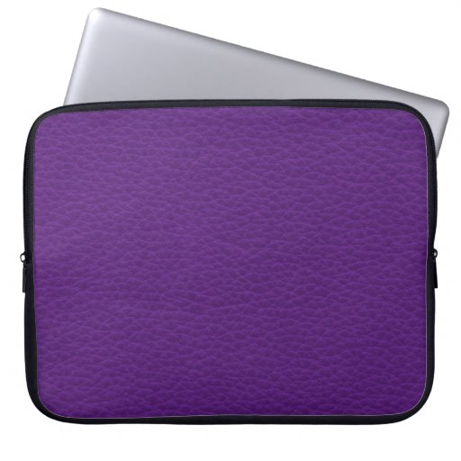 Picture of Purple Leather. Laptop Sleeves