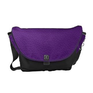Picture of Purple Leather. Messenger Bag