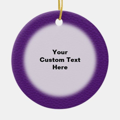 Picture of Purple Leather. Double-Sided Ceramic Round Christmas Ornament