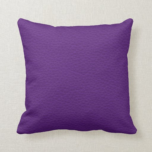 Picture of Purple Leather. Throw Pillows