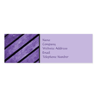 Picture of Purple Planks of Wood Mini Business Card