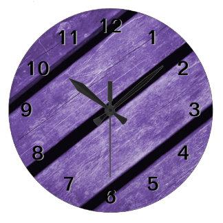 Picture of Purple Planks of Wood Wallclocks