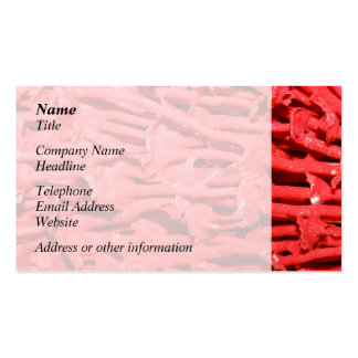 Picture of Red Organ Pipe Coral. Business Card Template