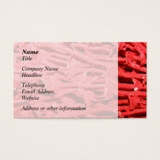Picture of Red Organ Pipe Coral. Business Card