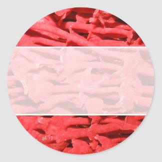 Picture of Red Organ Pipe Coral. Classic Round Sticker