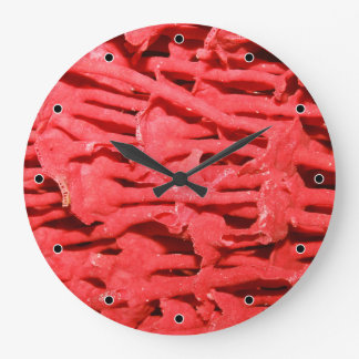 Picture of Red Organ Pipe Coral. Large Clock