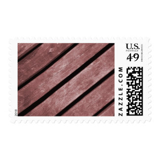 Picture of Redish Color Planks of Wood Postage Stamp