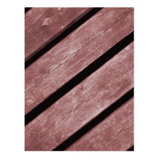 Picture of Redish Color Planks of Wood Postcard