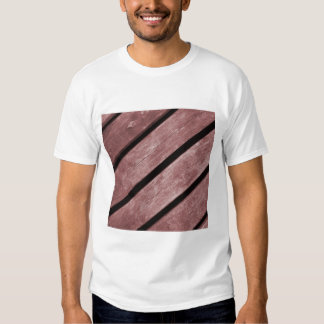 Picture of Redish Color Planks of Wood Tee Shirt