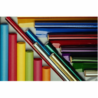 Picture of Rolls of colored foil and paper Photo Cutouts