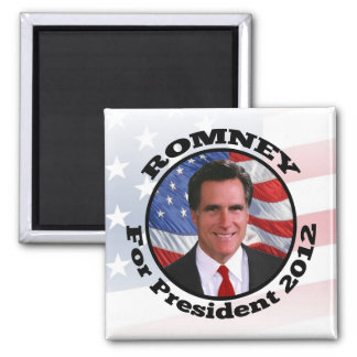 Picture of Romney, Vote for President 2012 2 Inch Square Magnet