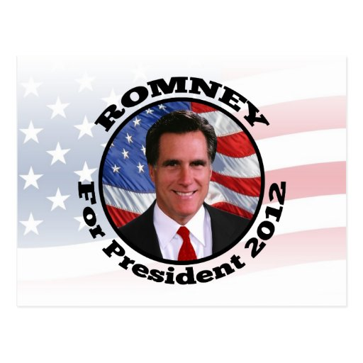Picture of Romney, Vote for President 2012 Postcards