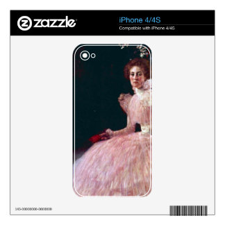 Picture of Sonja Knips by Gustav Klimt Skin For The iPhone 4S