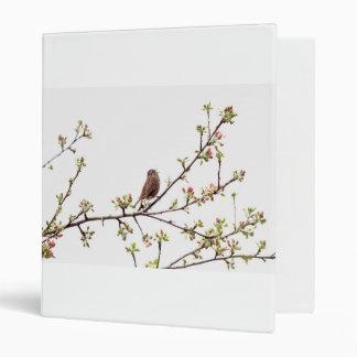 Picture of Sparrow Singing in Flowering Tree 3 Ring Binder