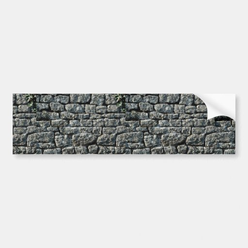 Picture of Stone wall texture Bumper Stickers