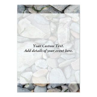 Picture of stones on a beach. card