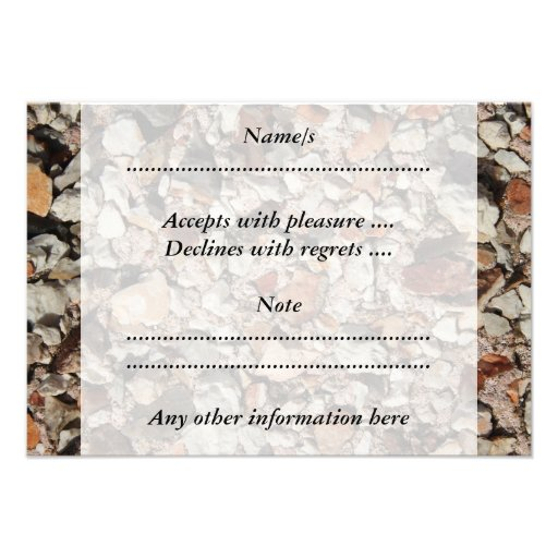 Picture of Stones on a Wall. Personalized Invites