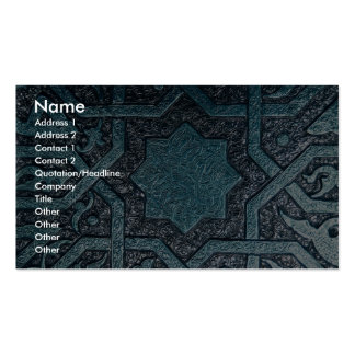 Picture of Syrian brass inlay work Damascus Syri Business Card