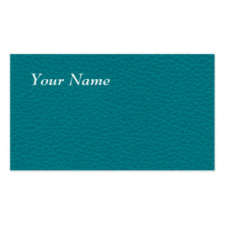 Picture of Teal Leather. Business Card Template