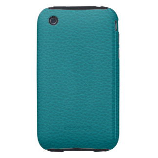 Picture of Teal Leather. Tough iPhone 3 Cover
