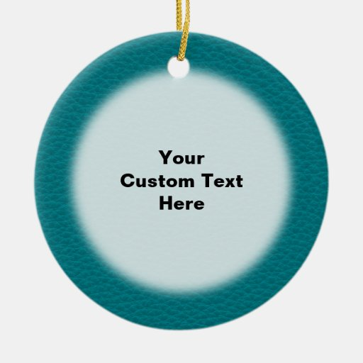 Picture of Teal Leather. Christmas Ornaments