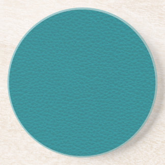 Picture of Teal Leather. Drink Coaster