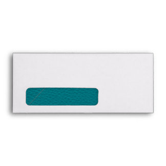 Picture of Teal Leather. Envelopes