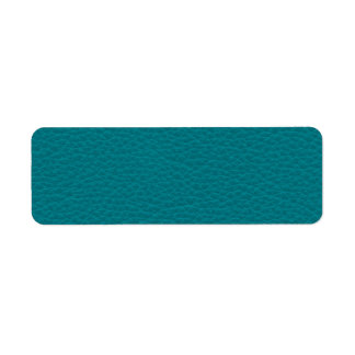 Picture of Teal Leather. Label
