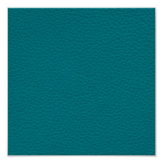 Picture of Teal Leather. Poster