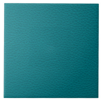 Picture of Teal Leather. Ceramic Tiles