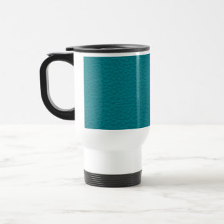 Picture of Teal Leather. Travel Mug